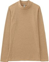 Uniqlo Women Ribbed High Neck Long Sleeve T