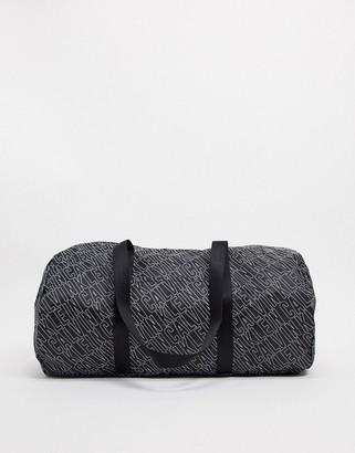 Calvin Klein logo duffle bag in black