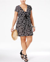 Dotti Plus Size Boho Bombshell Printed Hoodie Dress Cover-Up