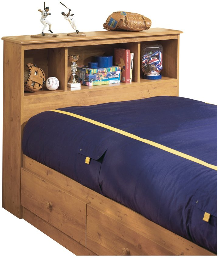 Green Baby South Shore Little Treasures Collection Twin (39'') Bookcase Headboard - Country Pine