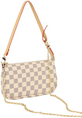 Goodnight Macaroon 'Gracelyn' Checked Canvas Small Crossbody / Shoulder Bag (2 Colors)