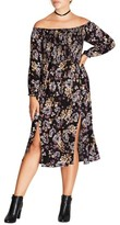 City Chic Plus Size Women's Floral Print Dress