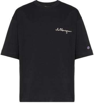 Champion x clothsurgeon logo embroidered T-shirt