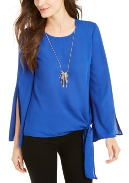 Thalia Sodi Tie-Side Split-Sleeve Top, Created for Macy's
