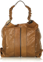 Chloé Heloise Leather Hobo Bag - Camel