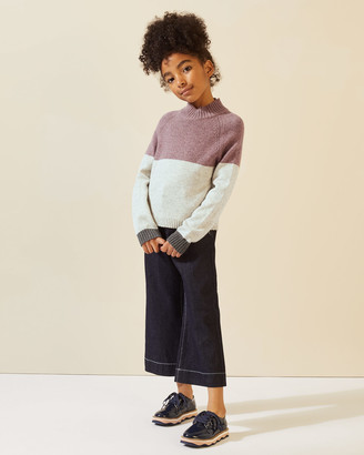 Jigsaw Colourblock High Neck Jumper
