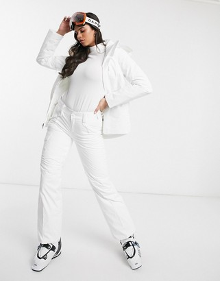 The North Face Freedom insulated ski pant in white