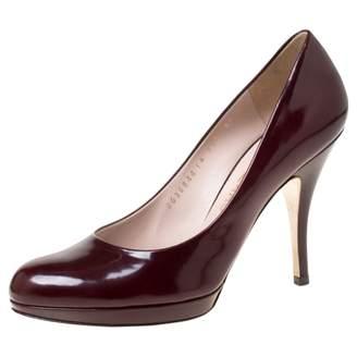 Salvatore Ferragamo Burgundy Patent leather Heels