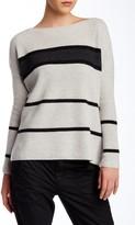 Vince Striped Boatneck Wool & Cashmere Blend Pullover