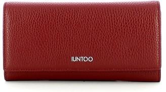 Iuntoo Red Leather Bifold Large Armonia Women's Wallet