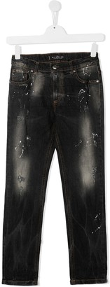 John Richmond Junior TEEN distressed jeans