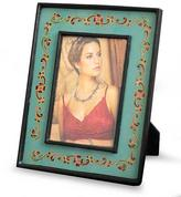 Reverse Painted Glass Picture Frame (4x6), 'Colonial Aqua'