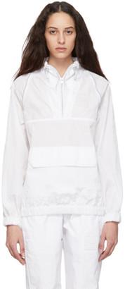 Misbhv White Nylon Half-Zip Jacket