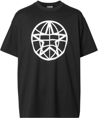 Burberry oversized Globe Graphic T-shirt