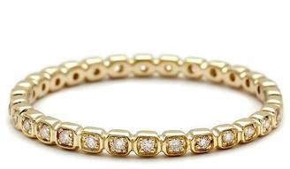 Anna Sheffield White Diamond Tiny Wheat Eternity Ring - Yellow Gold