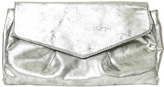 Arden B Distressed Gunmetal Clutch