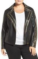 Tart Plus Size Women's Manie Studded Faux Leather Jacket