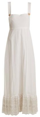 Athena Procopiou - Sunday Morning Pinafore Embroidered-cotton Dress - Ivory