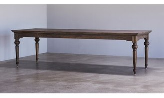 "Linette Solid Wood Dining Table Charlton Home Size: 30.71"" H x 94.49"" L x 39.37"" W"
