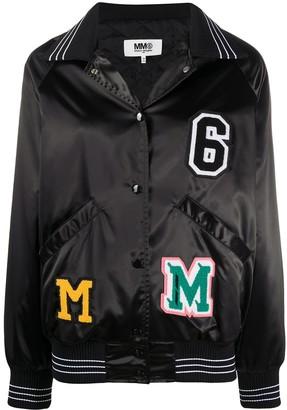 MM6 MAISON MARGIELA Logo Patches Bomber Jacket