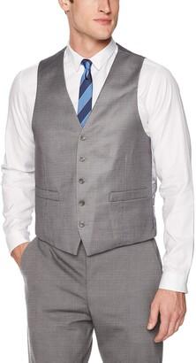 Kenneth Cole Reaction Men's Techni-Cole Stretch Slim Fit Suit Separate Vest (Blazer Pant and Vest)