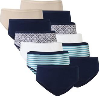 Gildan Women's Cotton Hi Cut Panties 12 Pairs