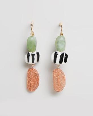 Topshop Mixed Bead Drop Earrings