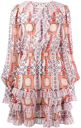 Temperley London Printed Mini Dress