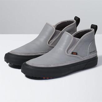 leather slide on vans