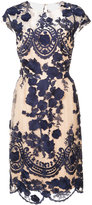 Marchesa fitted floral dress