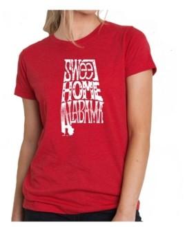 LA Pop Art Women's Premium Word Art T-Shirt - Sweet Home Alabama