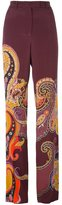Etro paisley print straight trousers
