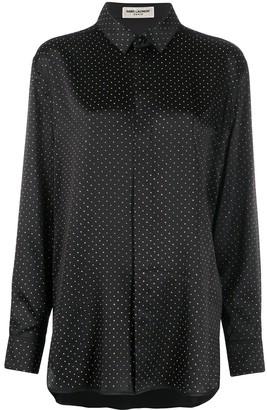 Saint Laurent Studded Button-Up Shirt