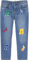 Stella McCartney Boy regular fit jeans with fancy patches