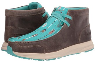 Ariat Spitfire (Granite Suede/Turquoise Arrows) Women's Lace-up Boots