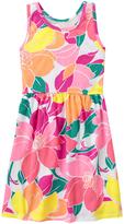 Gymboree Fuchsia Floral Sleeveless Dress - Girls