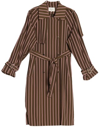 FRNCH Stripe Printed Trench Jacket