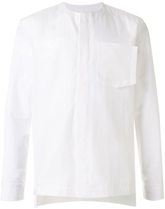 Maison Margiela Collarless Concealed Buttoned Shirt