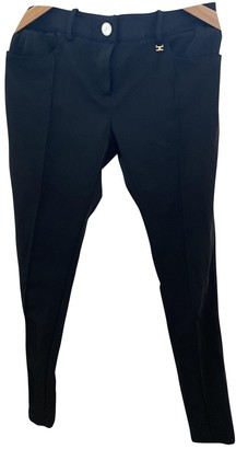 Elisabetta Franchi Black Cloth Trousers for Women