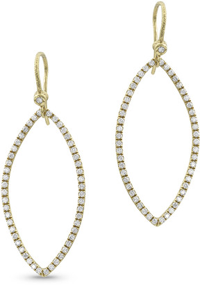 Dominique Cohen 18k Gold Diamond Marquise Earrings