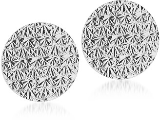 Rebecca R-ZERO Rhodium Over Bronze Round Earrings