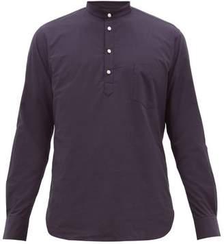De Bonne Facture - Pop Over Cotton Poplin Shirt - Mens - Navy
