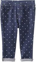 Joe Fresh Baby Girls' Polka Dot Jegging, Dark Wash (Size 6-12)