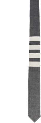 Thom Browne Classic 4 Bar Tie in Medium Grey | FWRD