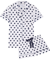 Three J NYC Eloise Polka-dot Cotton-poplin Pajama Set - White