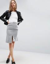 Asos Midi Skirt in Deconstructed Sweat