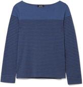 A.P.C. Marienere Liz Striped Cotton-blend Jersey Top