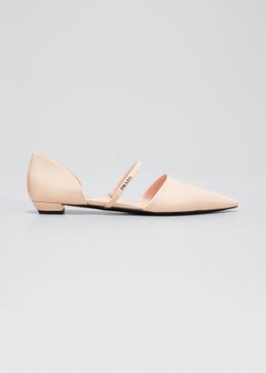 Prada Leather Mary Jane Ballerina Flats
