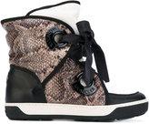 Moncler snake print snow boots - women - Cotton/Calf Leather/Foam Rubber - 35