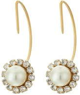 Marc Jacobs Crystal Pearl Hoops Earrings